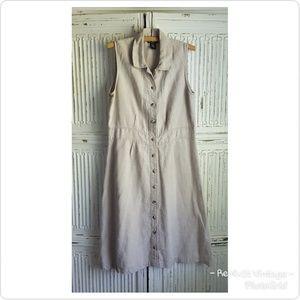 True Vintage Linen Sleeveless Dress by Rafaella